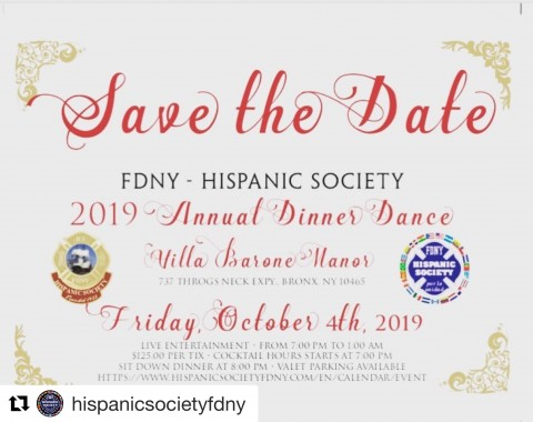 FDNY Hispanic Society 2019 Annual Scholarship Dinner Dance