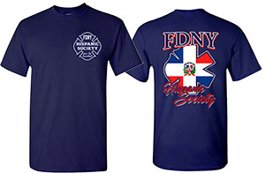Men's Dominican Republic Shirt - FDNY Hispanic Society